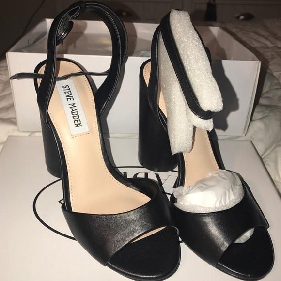 Steve Madden Shoes | Black Heel Size 6 | Poshmark